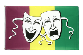 Drapeau Comedy & Tragedy - 90 x 150 cm