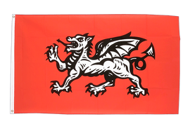 England white dragon - 3x5 ft Flag