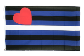 Drapeau Gay Pride Leather - 90 x 150 cm