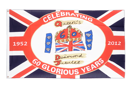 United Kingdom Diamond Jubilee of Queen Elizabeth II Flag - 3x5 ft