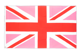 Drapeau Union Jack rose - 90 x 150 cm