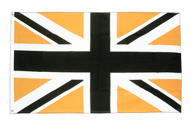 Union Jack black-gold - 3x5 ft Flag