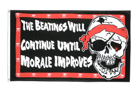 Pirat Beatings will continue - Flagge 90 x 150 cm
