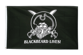 Drapeau Pirate Blackbeard lives - 90 x 150 cm