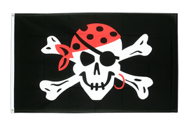 Pirat One eyed Jack - Flagge 90 x 150 cm