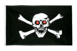 Pirate with red eyes Flag - 3x5 ft