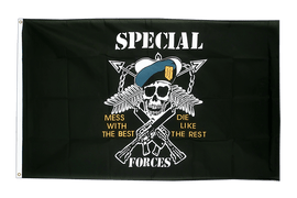 Pirate Specialforces - 3x5 ft Flag