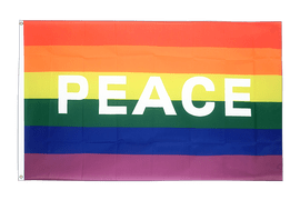 Rainbow with PEACE Flag - 3x5 ft