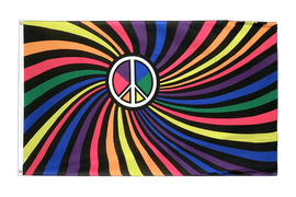 Rainbow Peace Swirl - 3x5 ft Flag