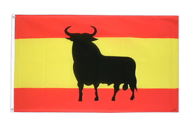 Spain with bull - 3x5 ft Flag