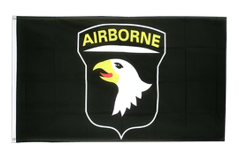 USA 101st Airborne, black - 3x5 ft Flag