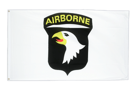 USA 101st Airborne white - 3x5 ft Flag