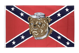 USA Southern United States with Bulldog - 3x5 ft Flag