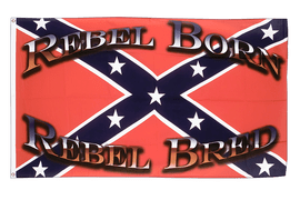 Drapeau confédéré USA Sudiste Rebel Born Rebel Bred - 90 x 150 cm