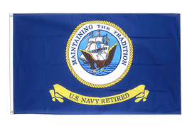 USA US Navy Retired - Flagge 90 x 150 cm