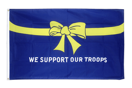 Acheter drapeau USA Etats-Unis We support our troops - 90 x 150 cm