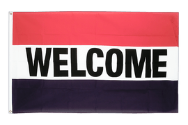 Welcome - Flagge 90 x 150 cm