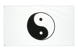 Buy Ying and Yang, white - 3x5 ft Flag