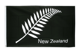 New Zealand feather all blacks - 2x3 ft Flag