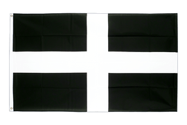 Large St. Piran Cornwall Flag - 5x8 ft