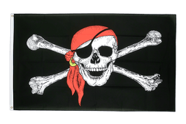 Large Pirate with bandana Flag - 5x8 ft