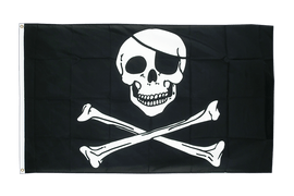 Pirate Skull and Bones - 5x8 ft Flag