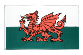 Large Wales Flag - 5x8 ft