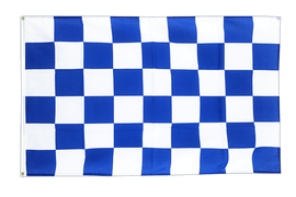 Large Checkered blue-white Flag - 5x8 ft