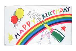 Happy Birthday - Flagge 60 x 90 cm