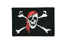 Pirate with bandana - Flag Patch