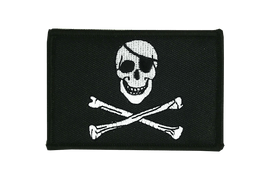 Aufnäher Pirat Skull and Bones Flagge - 6 x 8 cm