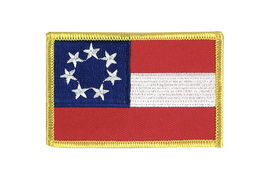 Écusson confédéré USA Sudiste Stars and Bars 1861 - 6 x 8 cm