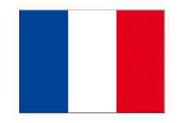 "France - Flag Sticker 3x4"", 5 pcs"