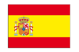 "Spain with crest Flag Sticker, 5 pcs - 3"" x 4"""