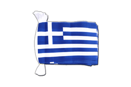 Greece Flag Bunting - 6x9""