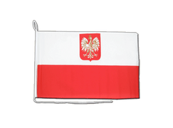 Poland with eagle - Boat Flag 12x16""