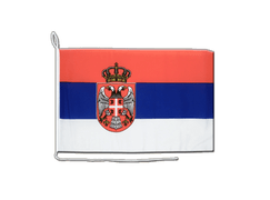 Serbia with crest - Boat Flag 12x16""