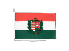 Hungary with crest Boat Flag - 12x16""