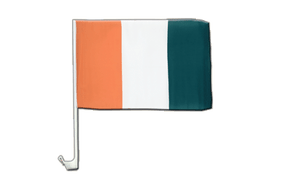Ivory Coast Car Flag - 12x16""