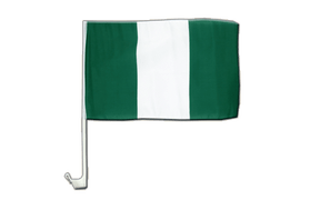 Nigeria - Car Flag 12x16""