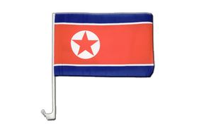 North corea Car Flag - 12x16""