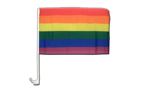 Car Flag Rainbow - 12x16""