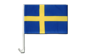 Sweden - Car Flag 12x16""