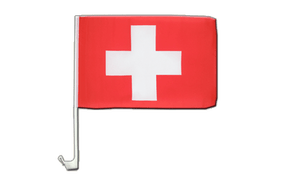 Switzerland - Car Flag 12x16""