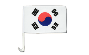 South Korea Car Flag - 12x16""