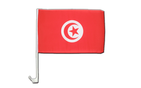 Tunisia - Car Flag 12x16""