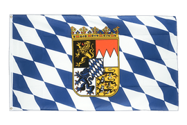 Bavaria with crest - 5x8 ft Flag