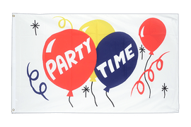 Large Party Time Flag - 5x8 ft