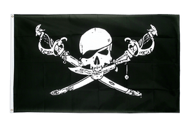 Large Flag Pirate with sabre - 5x8 ft