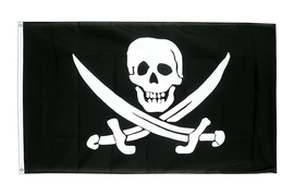 Large Pirate with two swords Flag - 5x8 ft